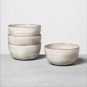 3 Gray Stoneware Reactive Glaze Cereal Bowls - Hearth & Hand with Magnolia